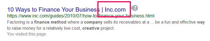 Inc.com places their brand at the end of their blog headline.
