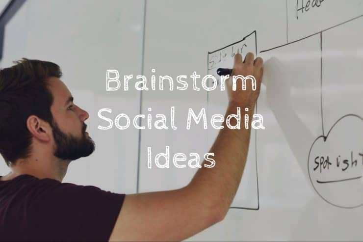 Brainstorming new social media ideas helps to keep fresh ideas coming