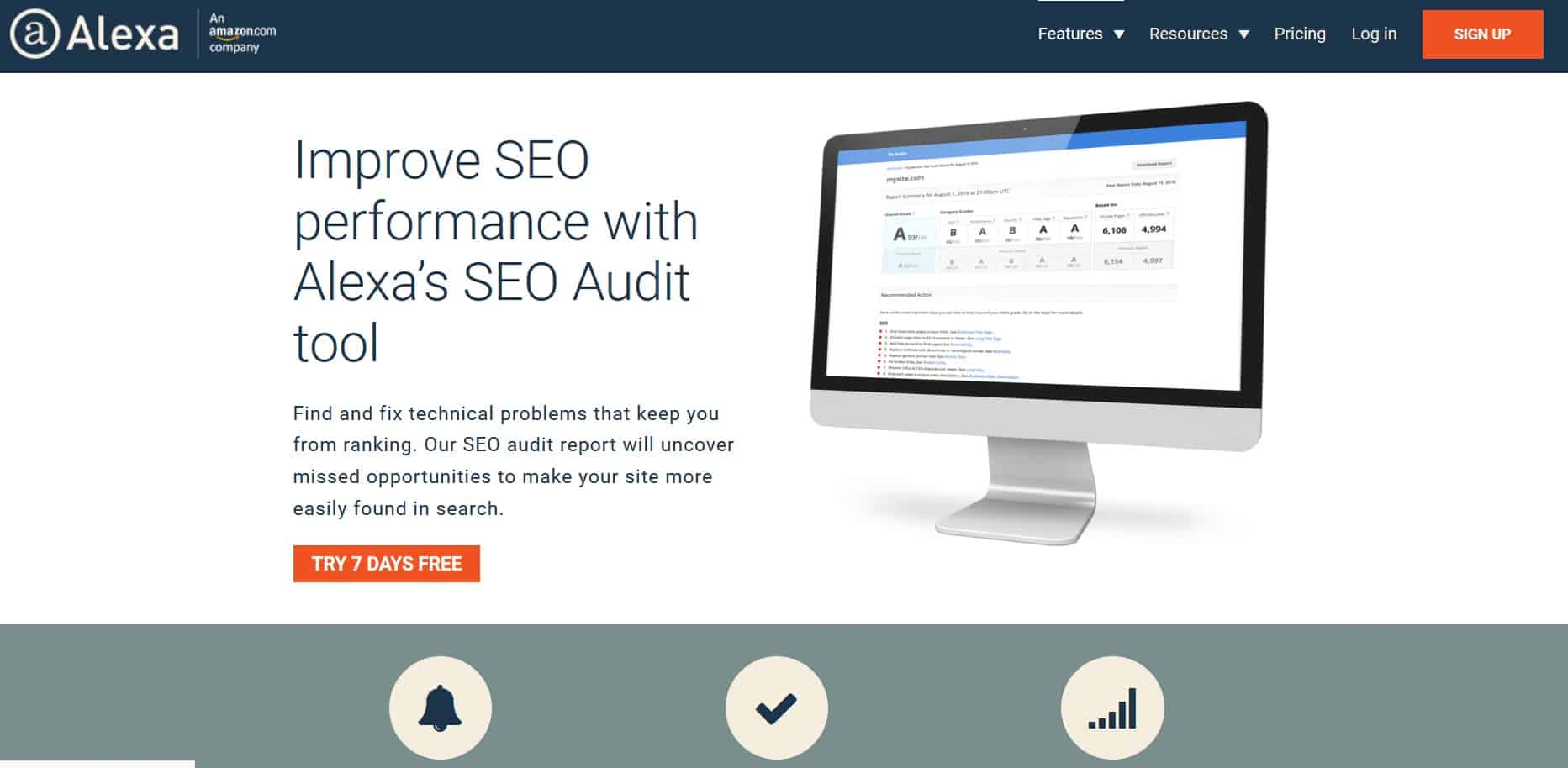 Amazon offers you one of the top notch website audit tools.