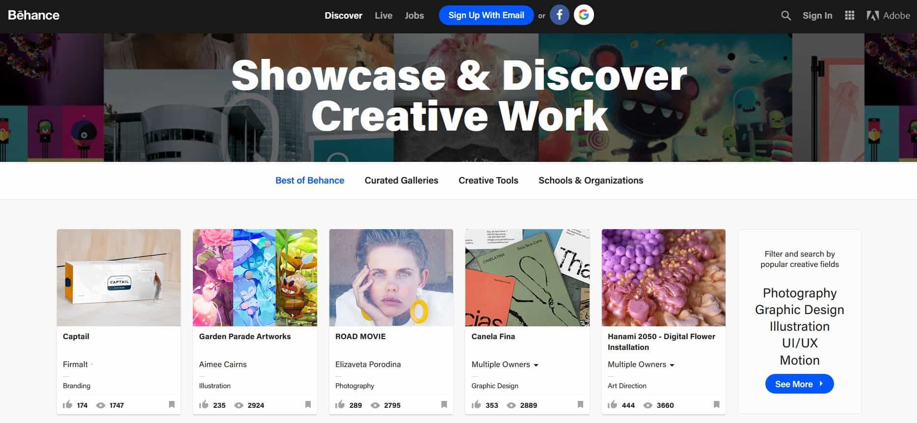 Behance is one of the great social media platforms for creators.