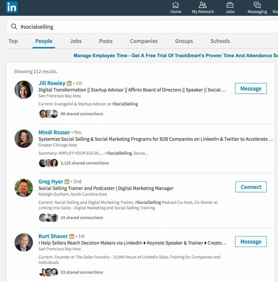 Hashtags on LinkedIn make valuable connections and discoveries easier.