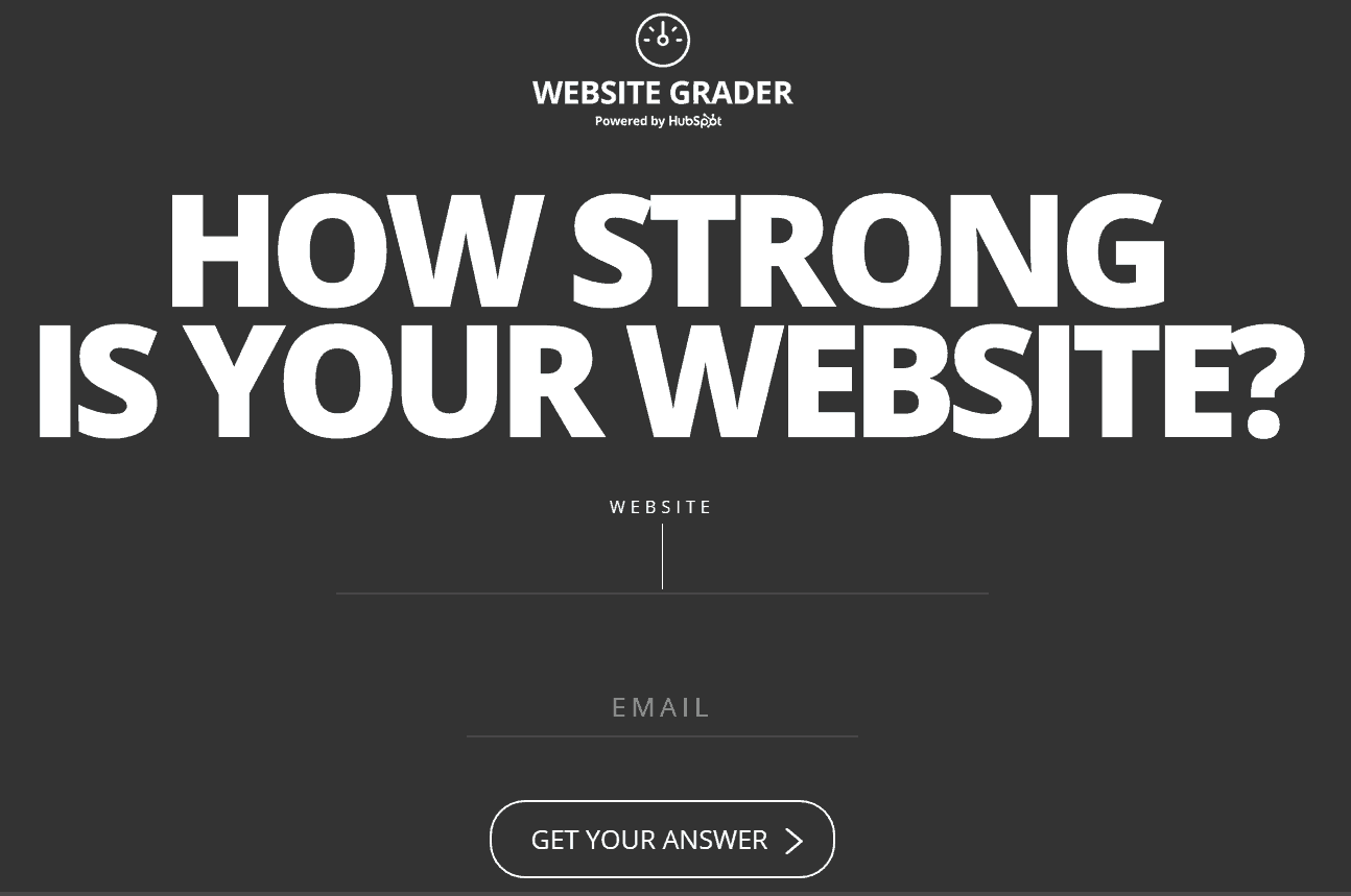 Among the available website audit tools, Website Grader.