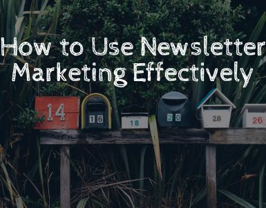 Newsletter marketing is an effective way to build leads.